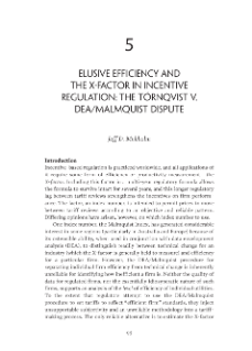 Elusive Efficiency and the X-Factor in Incentive Regulation: the Törnqvist v. DEA/Malmquist Dispute