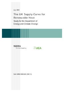 The UK Supply Curve for Renewable Heat