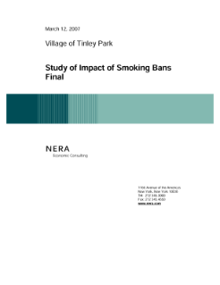 NERA's Study on the Impact of Smoking Bans