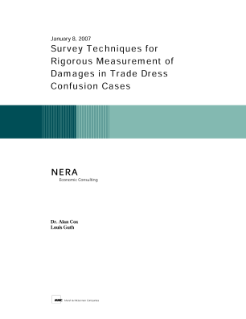Survey Techniques for Rigorous Measurement of Damages in Trade Dress Confusion Cases