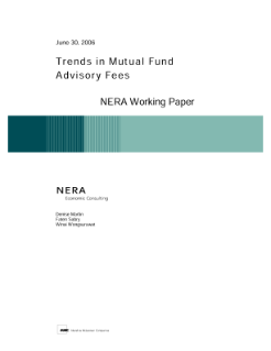 Trends in Mutual Fund Advisory Fees