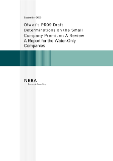 The Evidence for a Small Company Premium on the Cost of Capital at PR09 and A Review of Ofwat's PR09 Draft Determinations on the Small Company Premium: Reports for the UK's Water-Only Companies