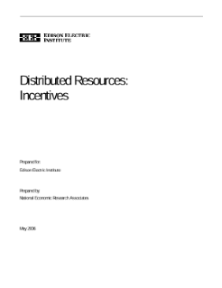 Distributed Resources: Incentives