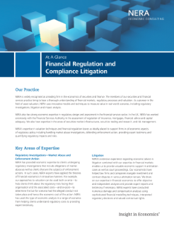 Financial Regulation and Compliance Litigation At A Glance