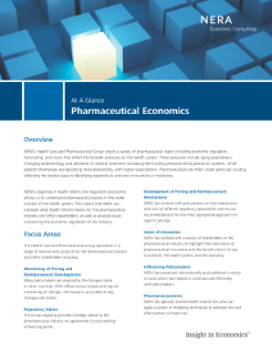 Pharmaceutical Economics At A Glance