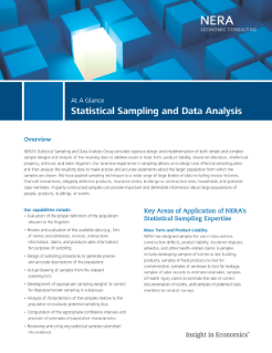 Statistical Sampling and Data Analysis At A Glance