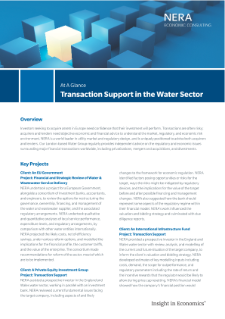 Transaction Support in the Water Sector At A Glance