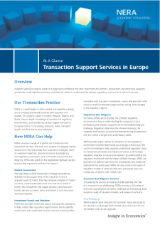 Transaction Support Services in Europe At A Glance
