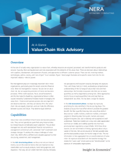 Value-Chain Risk Advisory At A Glance