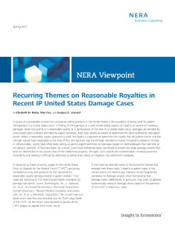 Recurring Themes on Reasonable Royalties in Recent IP United States Damage Cases