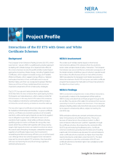Interactions of the EU ETS with Green and White Certificate Schemes