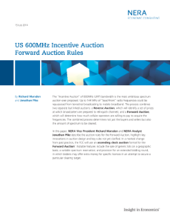 US 600MHz Incentive Auction: Reverse Auction Rules & Forward Auction Rules
