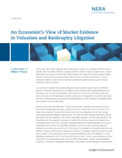 An Economist's View of Market Evidence in Valuation and Bankruptcy Litigation