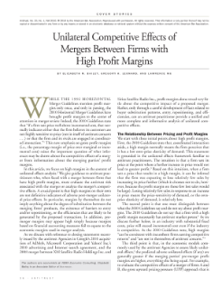 Unilateral Competitive Effects of Mergers Between Firms with High Profit Margins