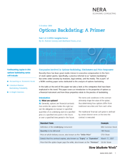 Options Backdating: A Primer