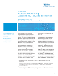 Options Backdating: Accounting, Tax, and Economics