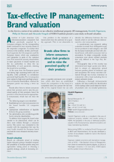 Tax-Effective IP Management: Brand Valuation