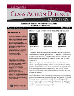 Estimating Damages in Canadian Shareholder Class Actions