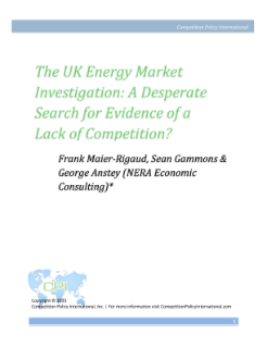 The UK Energy Market Investigation: A Desperate Search for Evidence of a Lack of Competition?