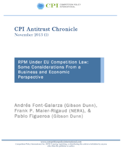 RPM Under EU Competition Law: Some Considerations From a Business and Economic Perspective