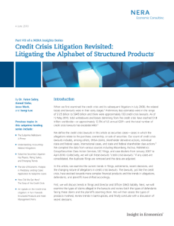 Credit Crisis Litigation Revisited: Litigating the Alphabet of Structured Products