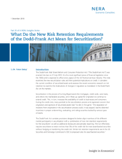 What Do the New Risk Retention Requirements of the Dodd-Frank Act Mean for Securitization? <br>