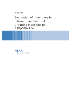 Evaluation of Incentives in International Sectoral Crediting Mechanisms
