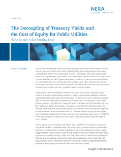 The Decoupling of Treasury Yields and the Cost of Equity for Public Utilities