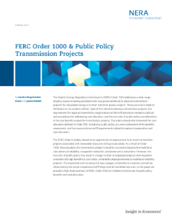 FERC Order 1000 & Public Policy Transmission Projects