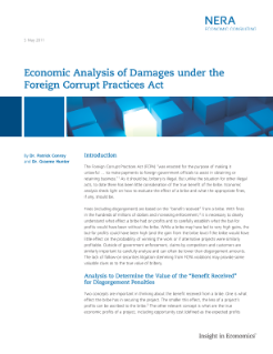 Economic Analysis of Damages under the Foreign Corrupt Practices Act (FCPA)