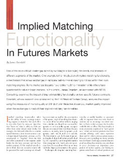 Implied Matching Functionality in Futures Markets