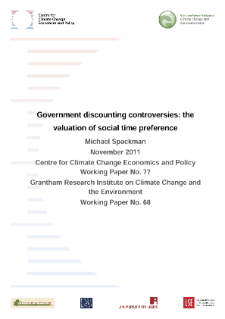 Government Discounting Controversies: The Valuation of Social Time Preference
