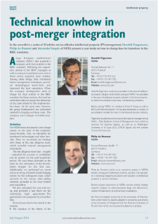 Technical Know-how in Post-Merger Integrations