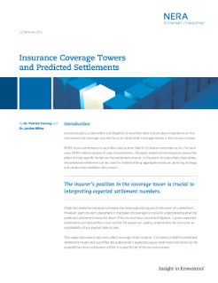Insurance Coverage Towers and Predicted Settlements