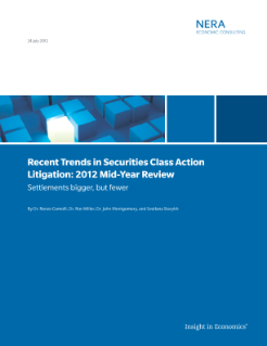 Recent Trends in Securities Class Action Litigation: 2012 Mid-Year Review