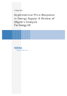 Asymmetrical Price Response in Energy Supply: A Review of Ofgem's Analysis