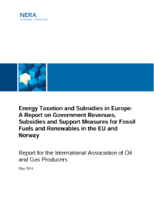 Energy Taxation and Subsidies in Europe: A Report on Government Revenues, Subsidies and Support Measures for Fossil Fuels and Renewables in the EU and Norway