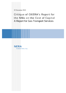 Critique of Report for the NMa on the Cost of Capital