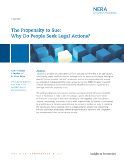 The Propensity to Sue: Why Do People Seek Legal Actions?