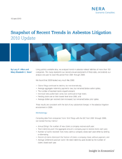 Snapshot of Recent Trends in Asbestos Litigation: 2010 Update