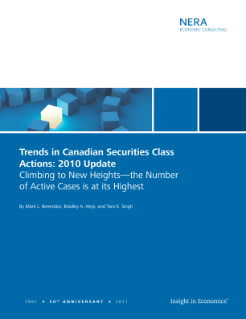 Trends in Canadian Securities Class Actions: 2010 Update