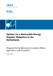 Options for a Renewable Energy Supplier Obligation in The Netherlands
