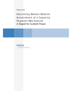 Electricity Market Reform: Assessment of a Capacity Payment Mechanism