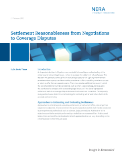 Settlement Reasonableness from Negotiations to Coverage Disputes