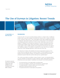 The Use of Surveys in Litigation: Recent Trends