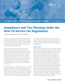Compliance and Tax Planning Under the New US Service Fee Regulations