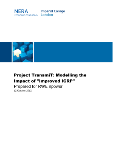 Project TransmiT: Modelling the Impact of 'Improved ICRP'