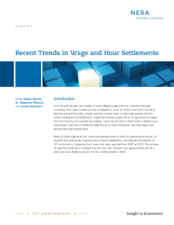 Recent Trends in Wage and Hour Settlements