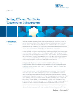 Setting Efficient Tariffs for Wastewater Infrastructure