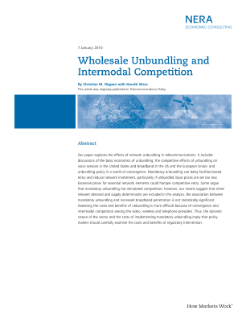 Wholesale Unbundling and Intermodal Competition